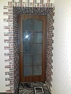 Декоративная 3D панель самоклейка под кирпич красный Екатеринославский 700x770x5мм (043), фото 4