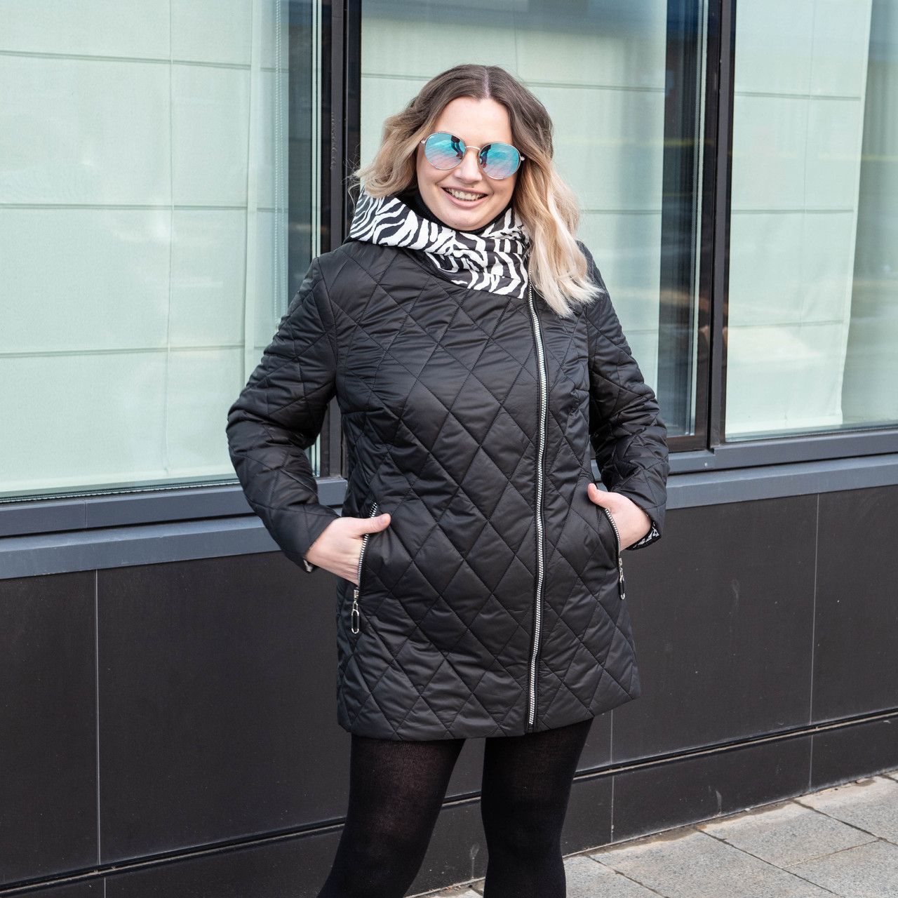 Куртка женская осень-весна   большие размеры  50-60 черный
