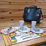 Сумка  набор посуды Пикник на 2 персоны F-16 подарочная эксклюзив именная, фото 2