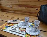 Сумка набір посуду Пікнік на 2 персони F-16 подарункова ексклюзив іменна, фото 3