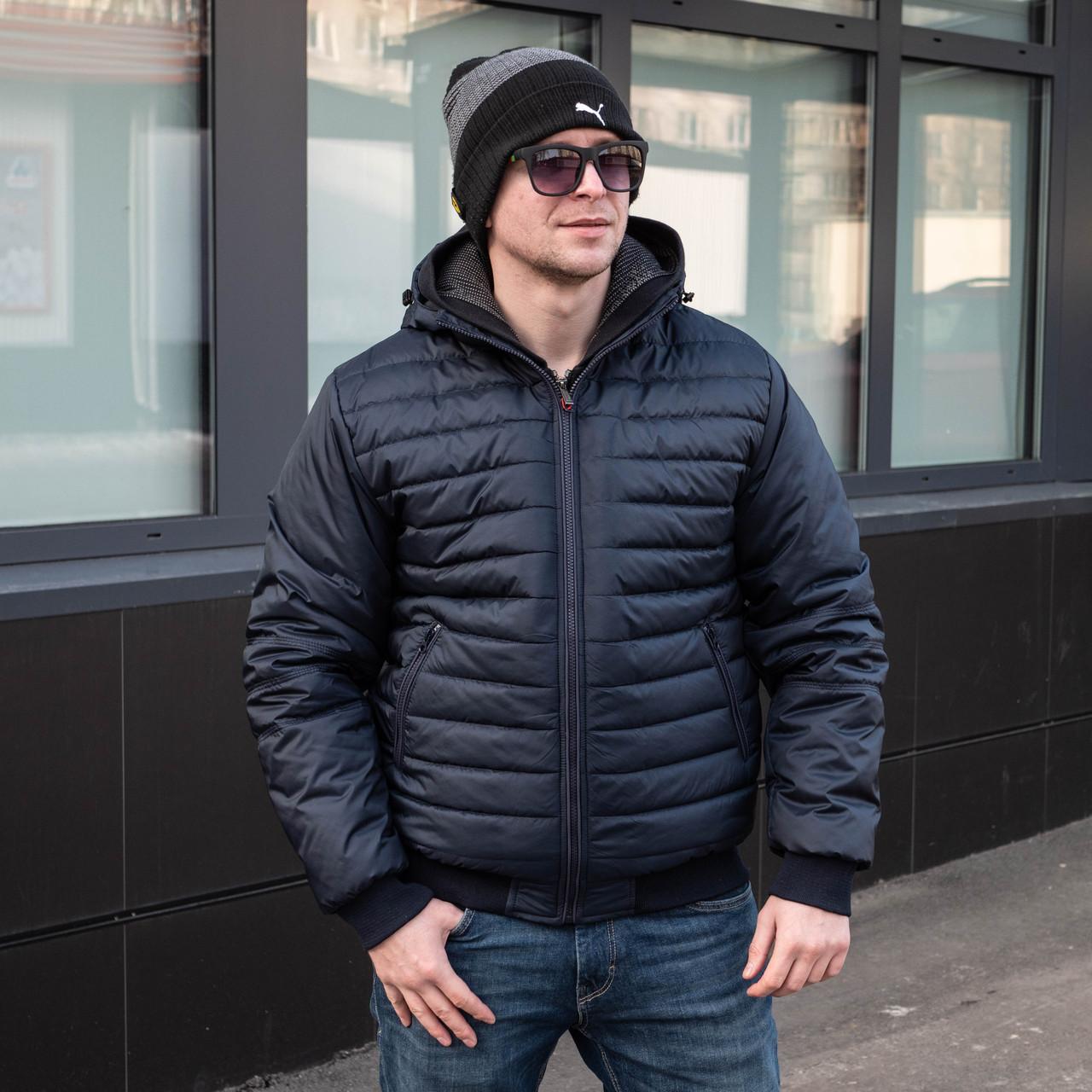 Чоловіча куртка демісезонна від виробника 48-58 синій