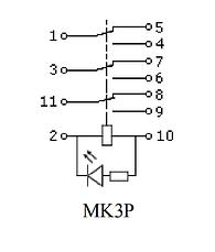 Реле МK3P (DC 24 V) АСКО, фото 3