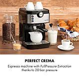 Кофемашина, кофеварка, капучинатор, кофейный аппарат klarstein BellaVita Espresso, фото 4