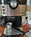 Кофемашина, кофеварка, капучинатор, кофейный аппарат klarstein BellaVita Espresso, фото 3
