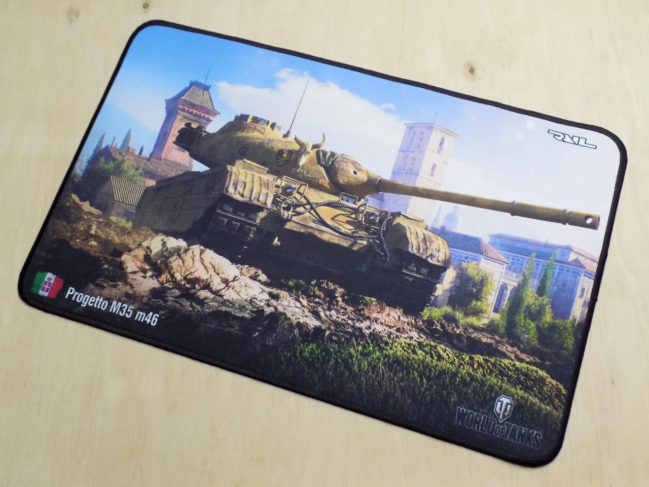 Коврик для мышки игровая поверхность танки RAIL World of Tanks Progetto M35m46