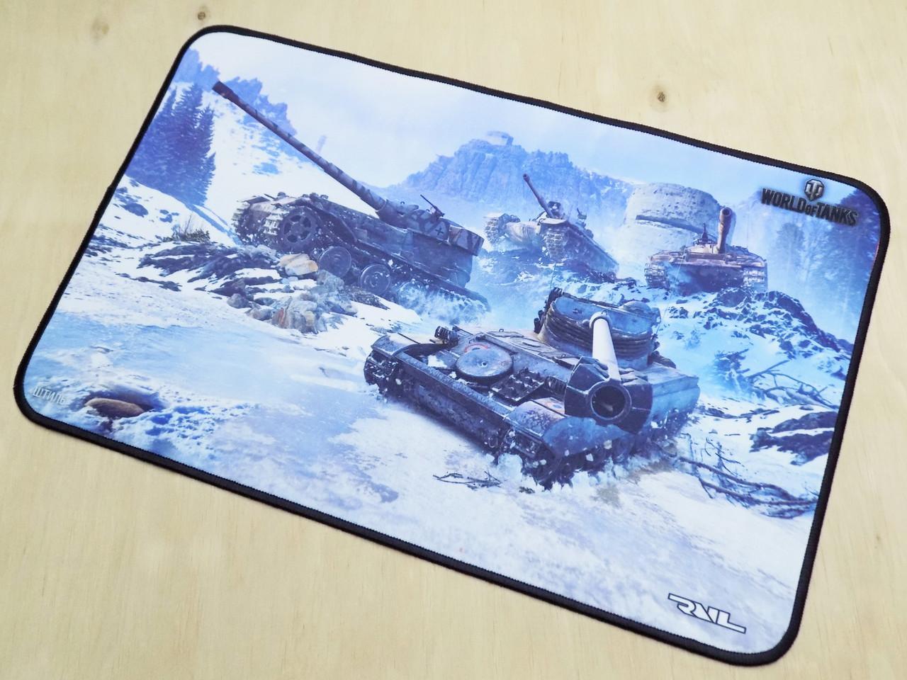 Килимок для миші ігрова поверхня RAIL танки wot Штиль