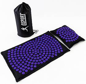 Масажний килимок і подушка (аплікатор Кузнєцова) масажер для спини/шиї/тіла OSPORT Lotus Mat Eco (apl-020)