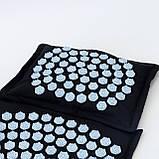 Масажний килимок Аплікатор Кузнєцова + масажна подушка масажер для шиї OSPORT Lotus Mat Eco (apl-020), фото 2
