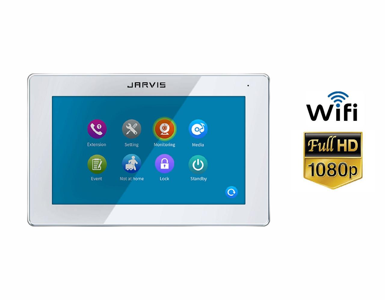Touch Screen Full HD 1080P Відеодомофон з записом відео по-руху Jarvis JS-7TSW FullHD + WiFi