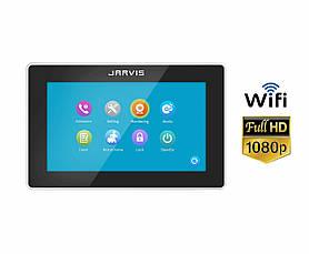 Touch Screen Full HD 1080P Видеодомофон с записью видео по-движению Jarvis JS-7TSB FullHD + WiFi