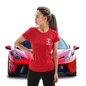 Женская футболка Феррари