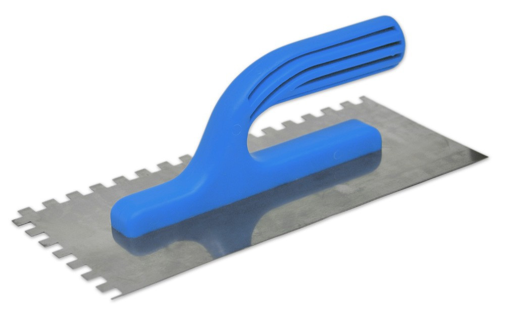 Гладилка нержавеющая Favorit 125 х 270 мм зуб 4 х 4 мм (08-001)