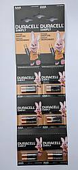 Батарейка Duracell Simply LR03/AAA MN2400