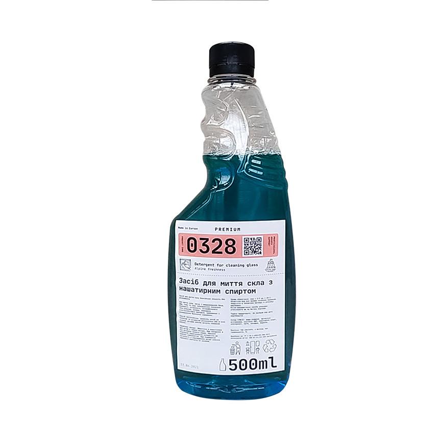 Засіб для скла Альпійська свіжість 0,5 л запаска Premium / 0328 / WS