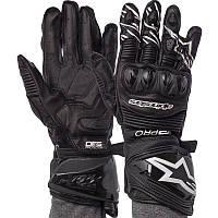 Мотоперчатки зимние кожаные с закрытыми пальцами мужские Alpinestars AX-19 размер L Черные, фото 1