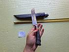 Узбецький ніж. Пчак великий-шеф. Рукоять кістка, сталь ШХ-15, фото 3