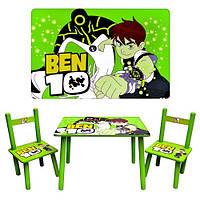 Столик M 0489   BEN 10, деревянный, 2 стульчика, в кор-ке, 60-40см