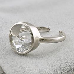 Кольцо серебряное женское ТС9510320б вставка белые фианиты размер 16-18