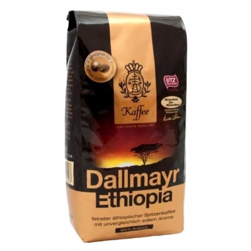 Кофе в зернах немецкий Dallmayr Ethiopia, 500г, из элитных сортов эфиопской арабики