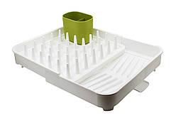 Раздвижная сушилка для посуды и кухонных принадлежностей с сливом, сушилка-органайзер ANGO