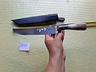 Пчак ніж. Козуля, ріг рукоять, гарда олово гравірування. ШХ-15, фото 7