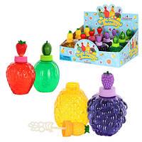 Мыльные пузыри 60142D  фрукты, 13-7,5-7см, ароматизиров, 12шт в дисплее, 31-23-14см
