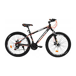 "Велосипед ARDIS MONTANA MTB AL 24"" 13"" Чеорн-помаранчевий"