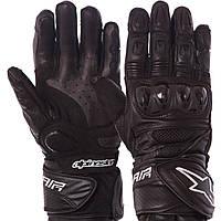 Мотоперчатки кожаные с закрытыми пальцами мужские Alpinestars MS-1241 размер L Черные