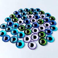 Стеклянные глазки 12мм (кабашоны)