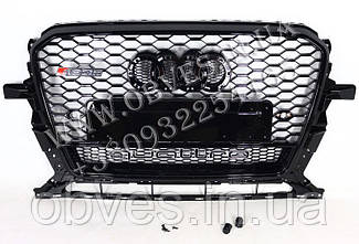 Решітка радіатора Audi Q5 2012-2015 стиль RSQ5 Black Quattro