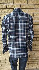 Чоловіча сорочка фланелева тепла, є великі розміри, щільна високої якості MNT, фото 2