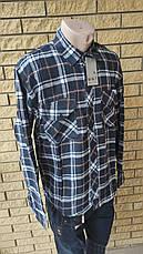 Чоловіча сорочка фланелева тепла, є великі розміри, щільна високої якості MNT, фото 3