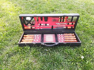 """Набор 8 шампуров """"Master"""" (730х15х3 мм)+ набор аксессуаров в подарочном кейсе"""