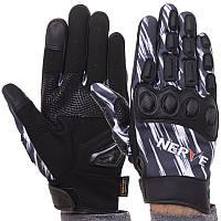 Мотоперчатки чоловічі з закритими пальцями і протектором NERVE KQ1056 розмір XL, фото 1