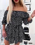 Черное платье в белый горох, фото 2