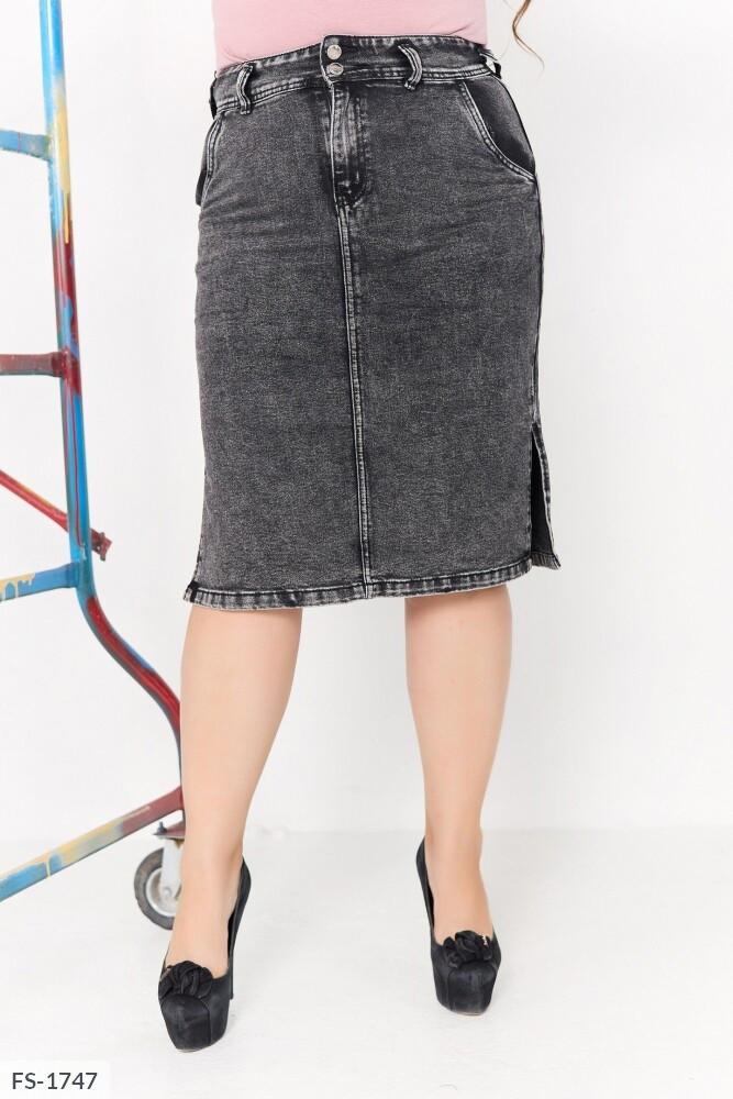 Жіноча джинсова спідниця (Батал)