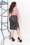 Жіноча джинсова спідниця (Батал), фото 2