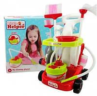 Набір для прибирання дитячий з візком пилососом і аксесуарами