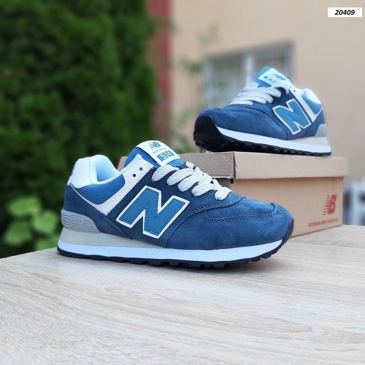 Жіночі кросівки New Balance 574 (Синьо-зелені) О20409