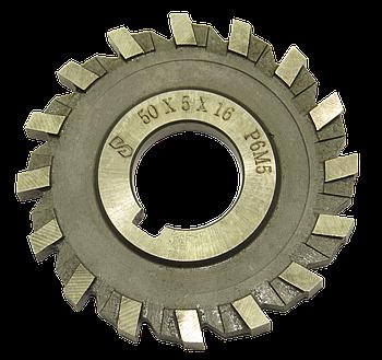 Фреза дисковая трехсторонняя 50х5х16 Р6М5 прямой зуб, ГОСТ 28527-90