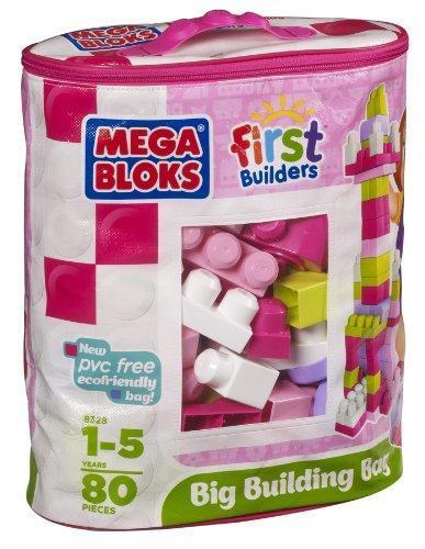 МБ Серия 'First Builders'. Набор конструктора в пакете 'Розовый',80 дет.,1+