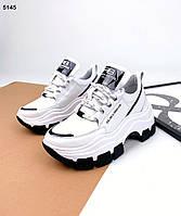 Жіночі кросівки з натуральної шкіри 35-41 р білий, фото 1