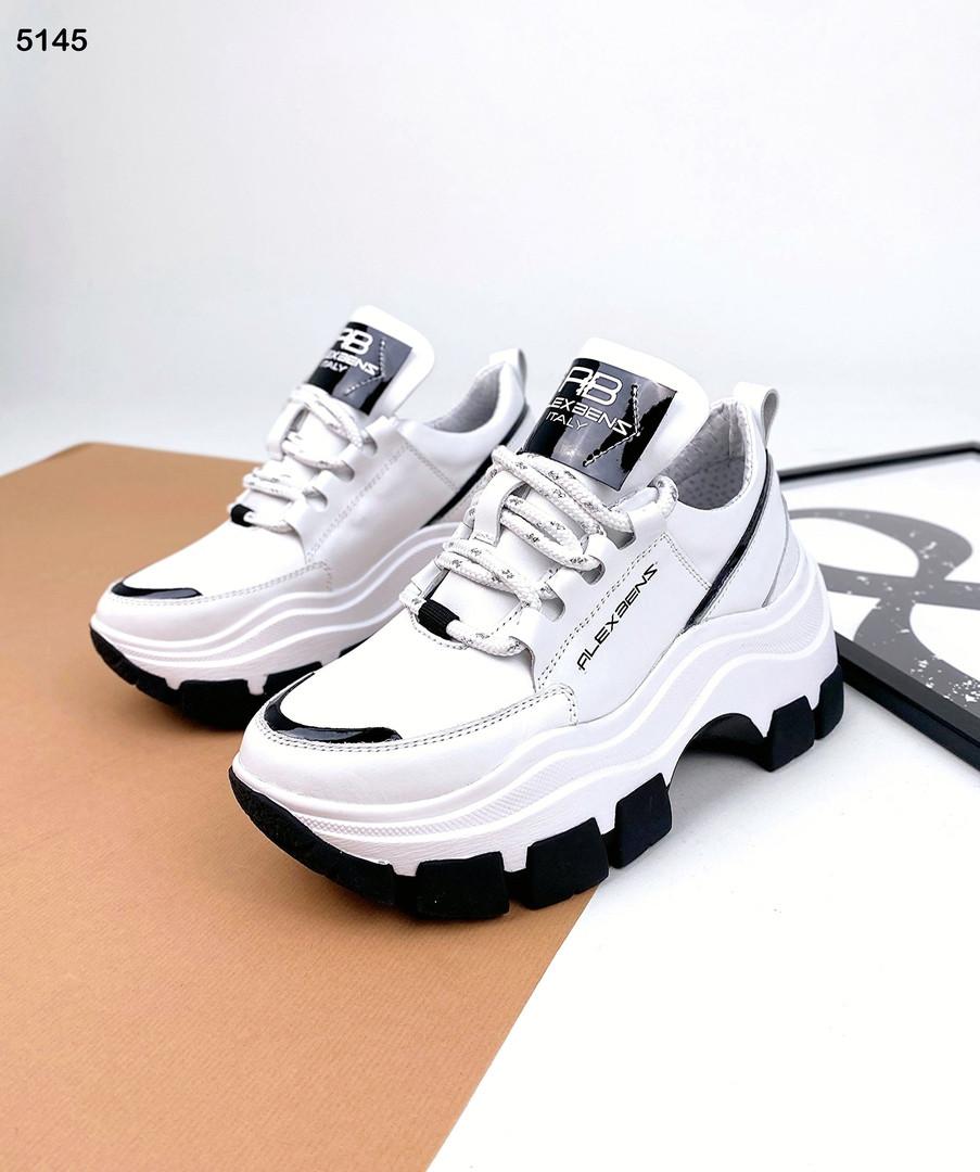 Жіночі кросівки з натуральної шкіри 35-41 р білий