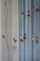 Шторы нити с цветным стеклярусом К15