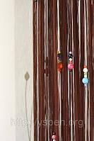 Шторы нити кисея цветной стеклярус для детской комнаты  К16