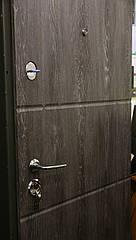 Двері броньовані Булат-95 Шале графіт/сивий