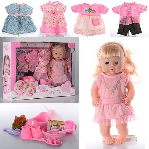 Кукла 30800-12C  39см,звук,наряды4шт,бутылочка,горшок,тарелка,каша,в кор-ке,55,5-41-13,5см