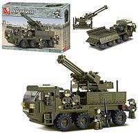 Конструктор SLUBAN M38-B0302  армия,военная машина, фигурки 5шт, 306дет, в кор-ке,38-28,5-7см