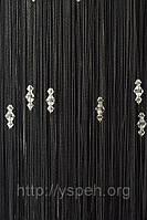 Нитяные шторы кисея с тройным стеклярусом ст10