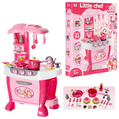 Кухня 008-801  51-73-30см,плита,духовка,звук,свет,посуда,на бат-ке,в кор-ке, 62,5-51,5-10,5см